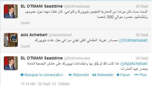 tweet el othmani sur livni